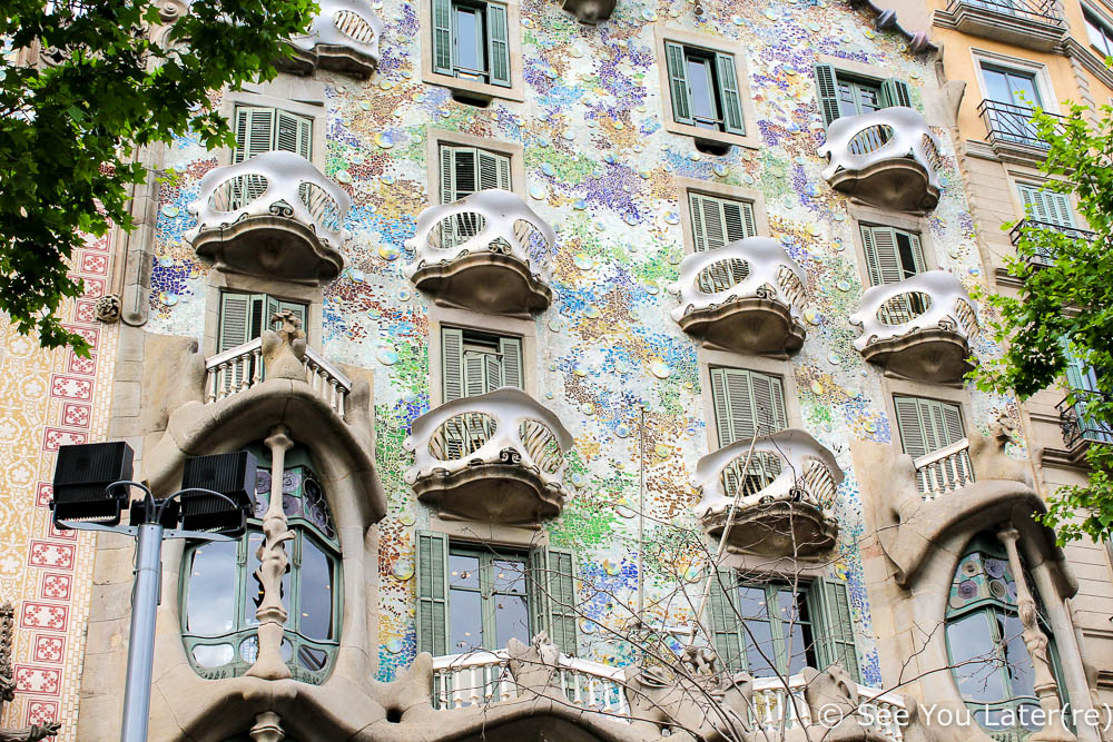 facade casa batllo barcelone