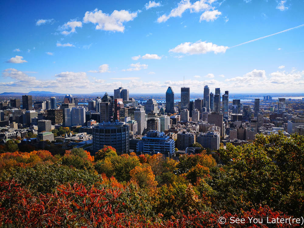 vue mont royal montreal